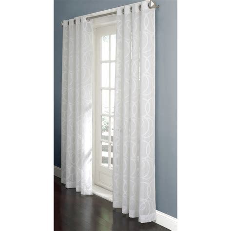 white sheet curtains enlarged image