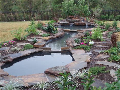 backyard koi pond ideas natural pond landscaping home 187 garden ideas 187 large garden pond with waterfall