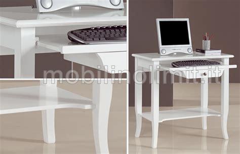 scrittoio porta computer scrittoio portacomputer bianco opaco