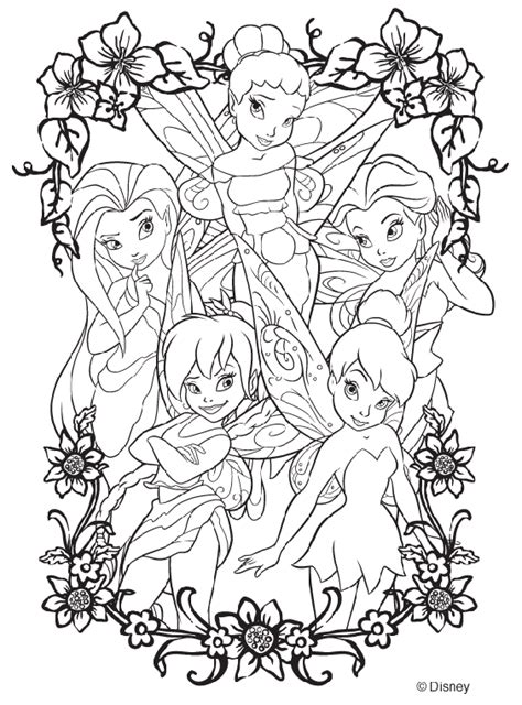 coloring pages adults disney disney fairies coloring page crayola com
