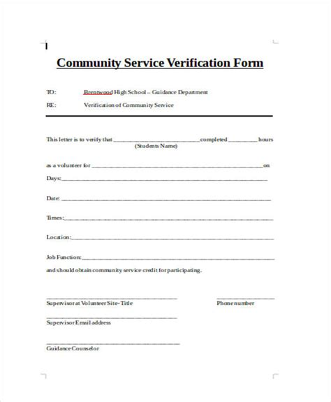 Community Service Letter Doc employment offer letter free doc best free home