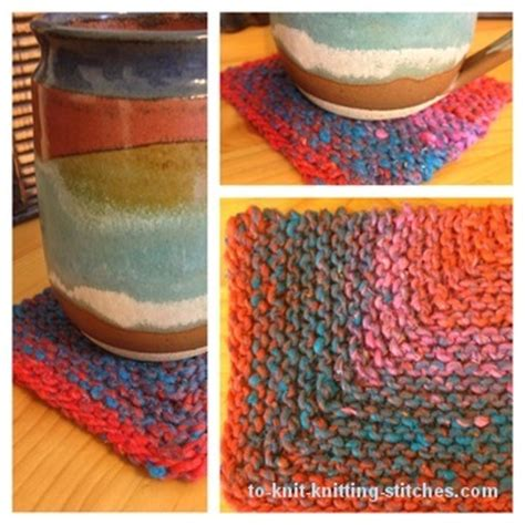 how to knit a coaster mitered coaster an easy knitting project in less than a day