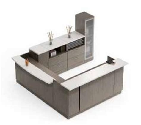 Zira Reception Desk Zira Two Tone U Shaped Reception Desk By Global Total Office