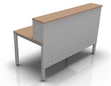 Silver Reception Desk by Reception Desk Composition Silver Metal Vital