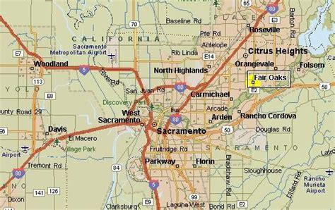 map of sacramento area fair oaks map