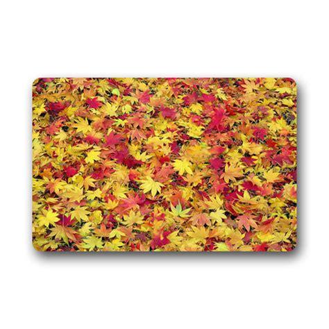 comfortable style door mats autumn leaves doormat size