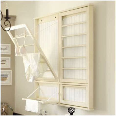 diy laundry room drying rack centsational