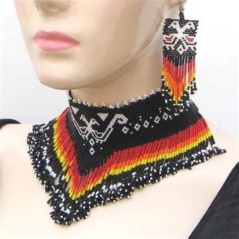 17 Best images about Native American Beaded Necklaces on Pinterest   Beaded necklace patterns
