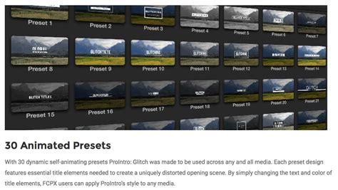 final cut pro glitch effect fcpx effects developer pixel film studios releases