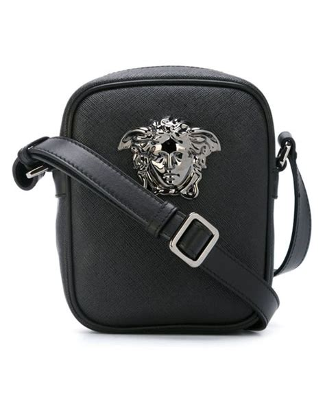 Versace Pocket Shoulder Bag by Versace Small Palazzo Medusa Shoulder Bag In Black For