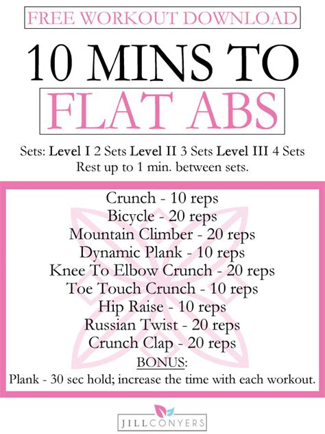 minutes  flat abs    jill conyers