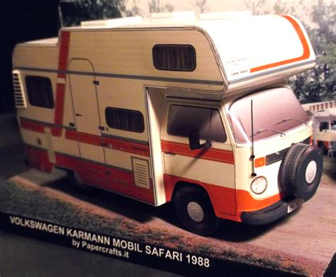 film balap mobil vw paper model volkswagen t2 karmann mobil safari