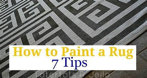 can i paint a rug how to paint a rug seven tips to painting a rug