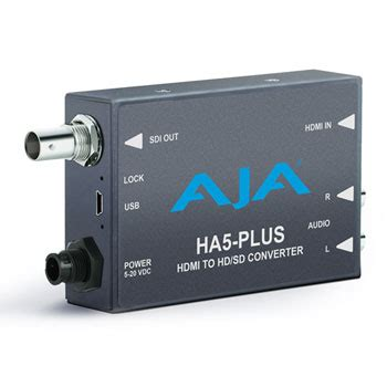 aja ha5 plus hdmi to 3g sdi with dslr format support