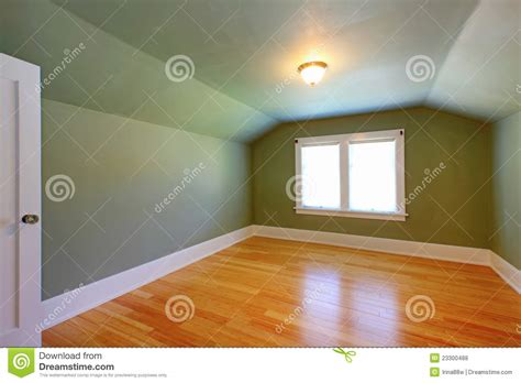 Attic Ceiling by Attic Green Room With Low Ceiling Royalty Free Stock