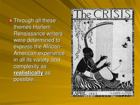 themes of literature during the harlem renaissance ppt the harlem renaissance powerpoint presentation id