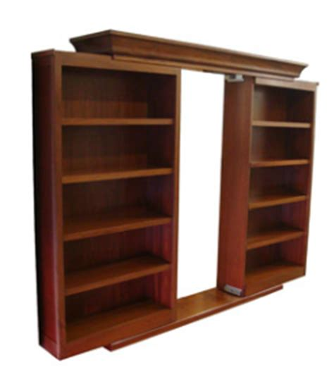 sliding secret bookcase door stashvault