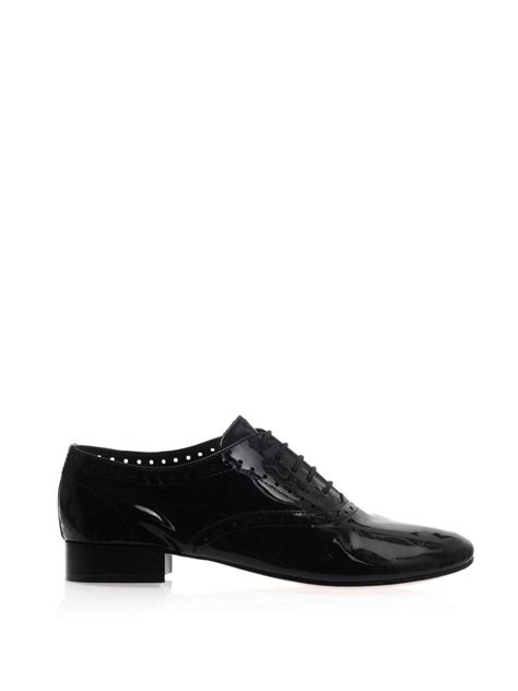 black jazz sneakers repetto zizi patent leather jazz shoes in black lyst