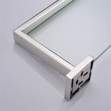 stainless steel bathroom shelf bathroom tempered glass shelf wall mount stainless steel