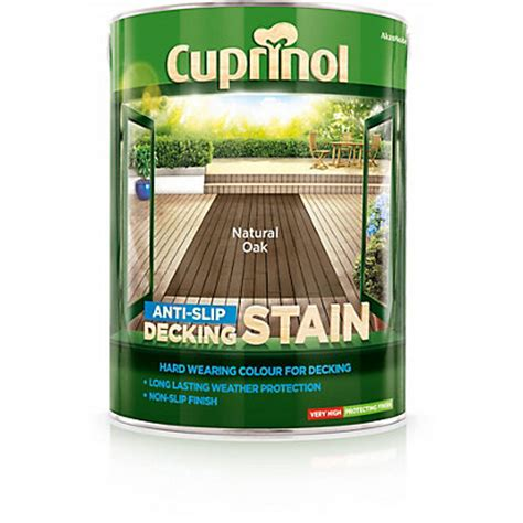 cuprinol anti slip decking stain oak 5l