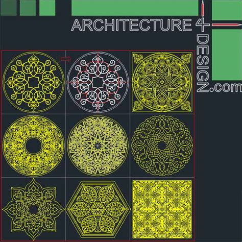 islamic pattern bibliocad 77 flooring design patterns for autocad dwg file