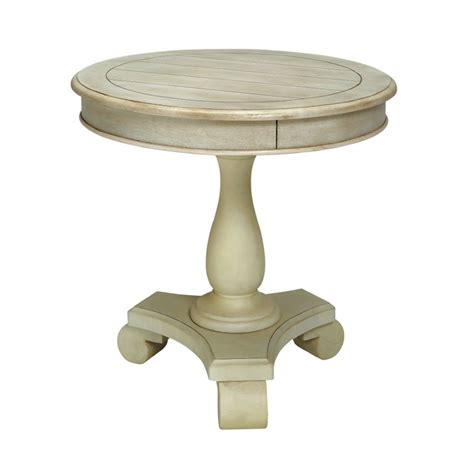 pedestal accent table round furniture of america jackson round pedestal end table in