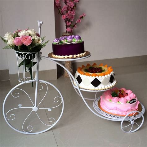 gestell vintage novelty 20pcs gold white cake stand bicycle multilayer