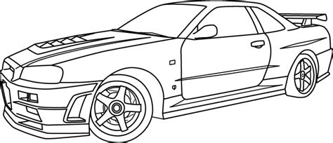 nissan skyline drawing outline 2005 nissan skyline coloring pages coloring pages