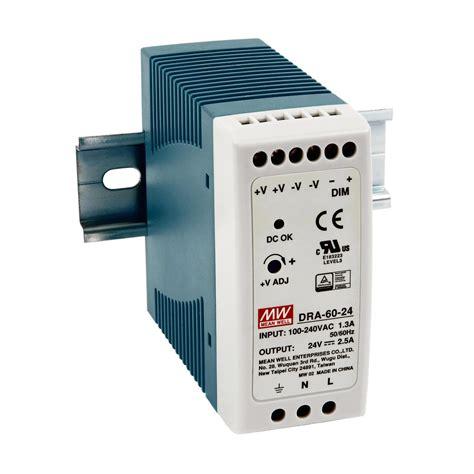 Power Supply Well Dra 60 Psu dra 60 24 60 watt 24v switching output din rail power supply