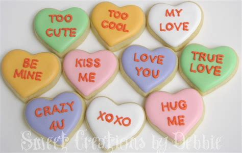 valentines day hearts sayings sweet creations by debbie conversation minis