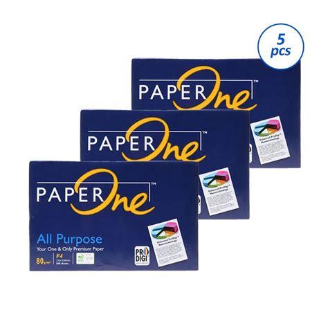 Kertas Paper One F4 jual paperone hvs f4 kertas 80 gsm 5 rims harga kualitas terjamin blibli