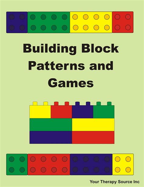 pattern games stage 1 building block pattern freebie your therapy source