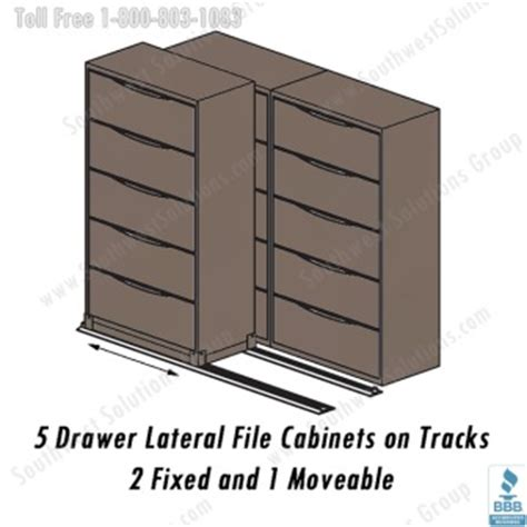Rolling Lateral File Cabinet Rolling Lateral Filing Cabinets On Floor Tracks