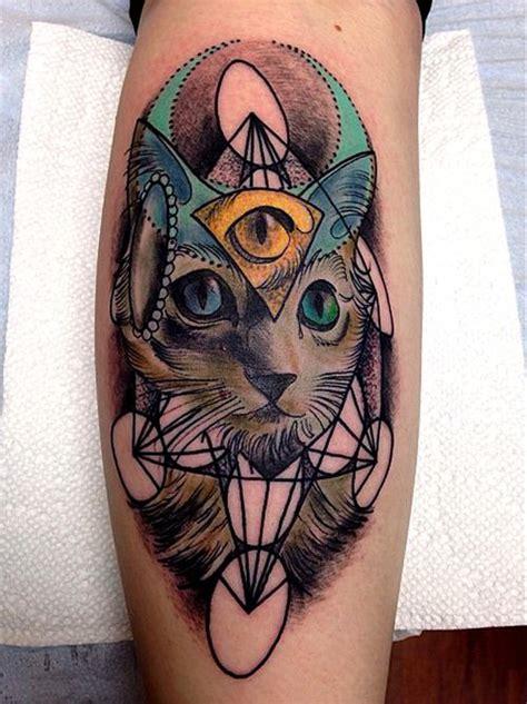 tattoo cat geometric geometric cat tattoo tattoo idea pinterest cats