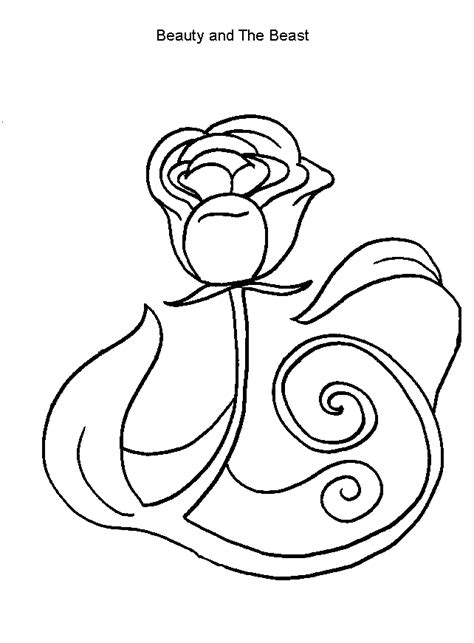 beauty and the beast rose pages coloring pages