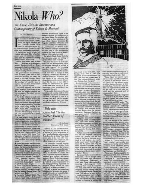 Nikola Tesla Article Nikola Who Tesla Universe