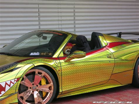 golden ferrari ferrari 458 quot golden shark quot by office k is tokyo s most