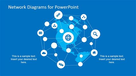 powerpoint themes networking simple network diagrams for powerpoint slidemodel
