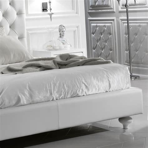 white italian leather white italian luxury leather bed juliettes interiors