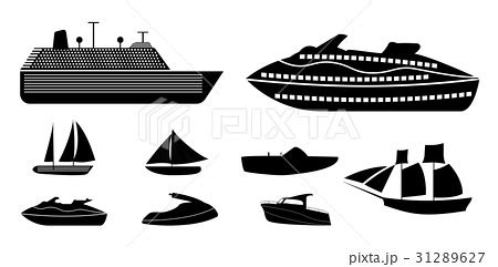 types of boats recreational set of different types of boats for recreation andのイラスト素材