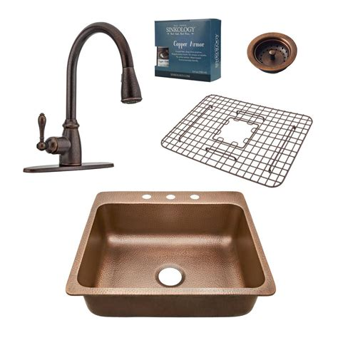 Sinkology Monet Farmhouse Apron Front Handmade Pure Solid Kitchen Sink Combo