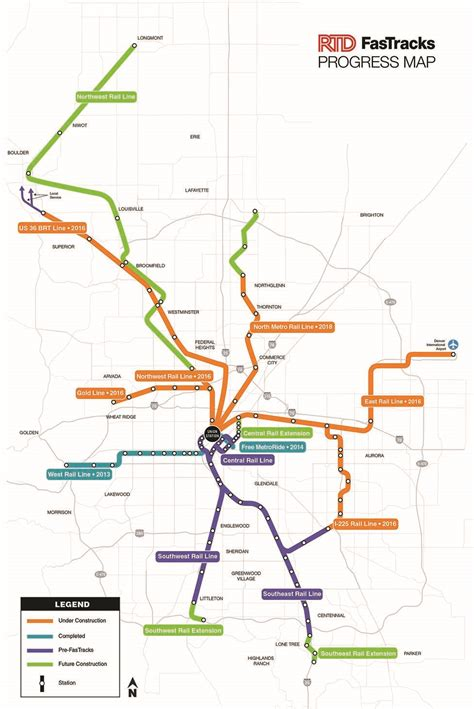 rtd map rail insider denver rtd makes the for a funding approach information for