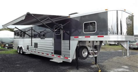 horse trailer awning 2017 exiss endeavor 8416 7 8 quot tall 8 wide 16 short wall