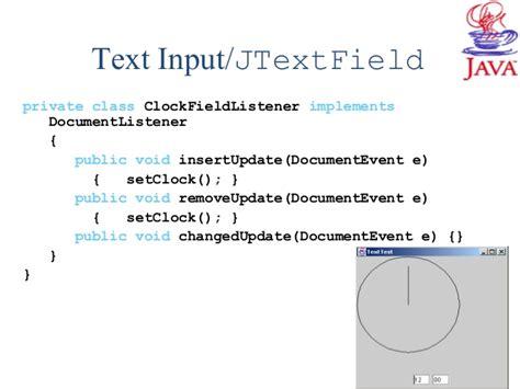 java swing text input java swing