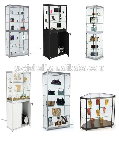 Rotating mirror jewelry cabinet, electric rotating display