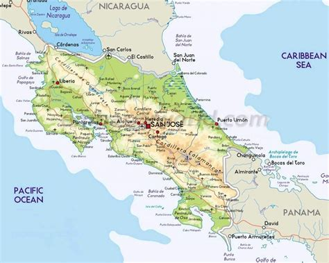 maps costa rica map of costa rica every map you need to plan your trip