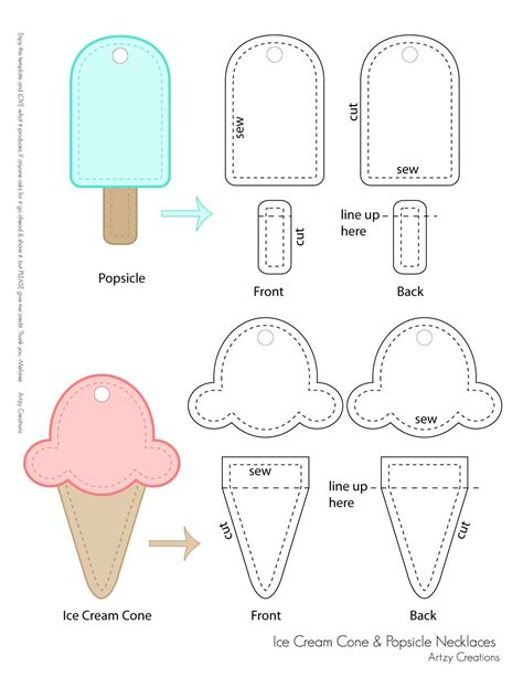 Felt Templates by And Popsicle Necklaces For With Free