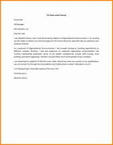 Cover Letter Of 8 Exles Of Covering Letters For Cv Assembly Resume