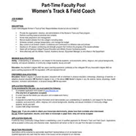 Coaching Resume Sles by Track Coach Resume Oylekalakaari