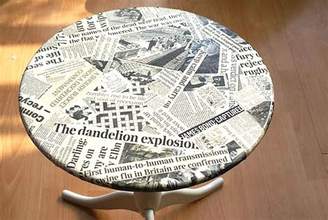 Newspaper Decoupage - the daily scoop molliepop